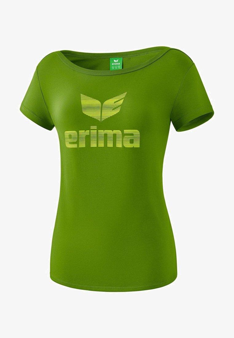 Erima - ESSENTIAL T-SHIRT DAMEN - Print T-shirt - twist of lime / lime