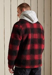 Superdry - WORKWEAR - Fleece jacket - black/red - 1