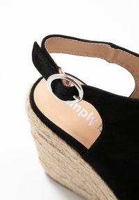 Simply Be - WIDE FIT PERU - Sandali con tacco - black - 2