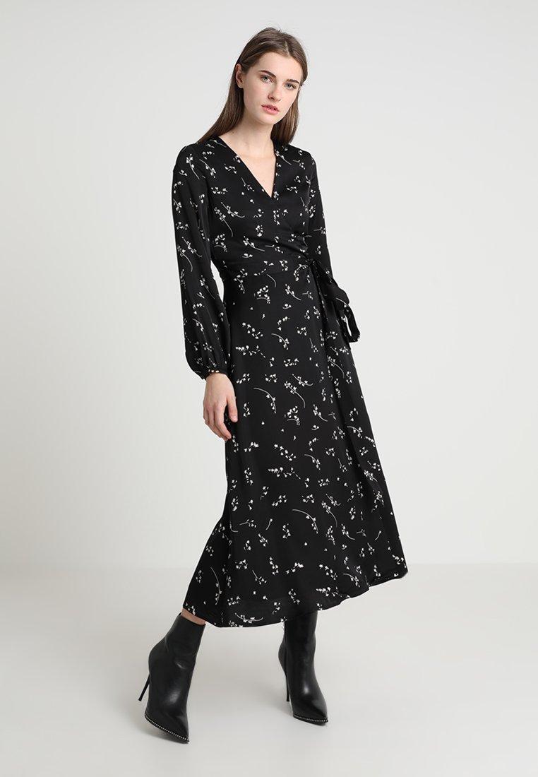 IVY & OAK - PRINTED WRAP  - Maxi dress - black