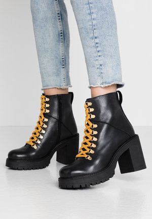 BIACURTIS BOOT - High heeled ankle boots - black
