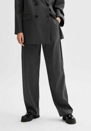 Trousers - medium grey melange