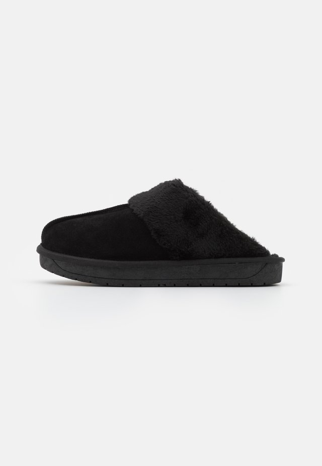 WIDE FIT AUBREE - Pantoffels - black