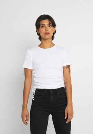 ENALLY STRING TEE - Jednoduché triko - white