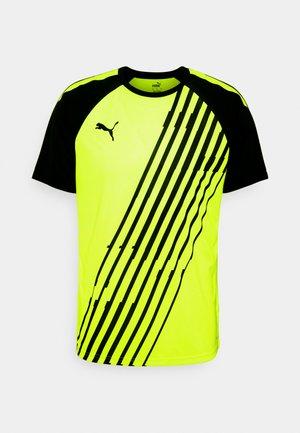 TEAMLIGA GRAPHIC - Print T-shirt - yellow alert/black