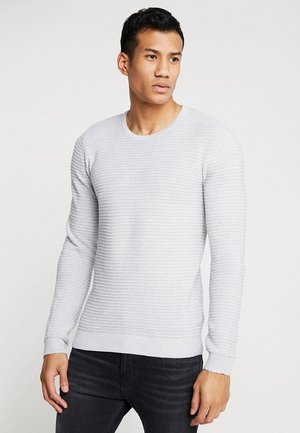STRUCTURE - Jumper - light grey melange
