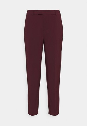 BASIC BUSINESS PANT  - Trousers - dark red