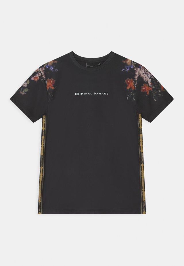 OIL FLOWER - T-Shirt print - black/multi