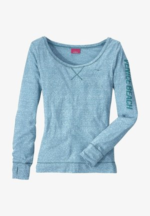 Long sleeved top - türkis-meliert