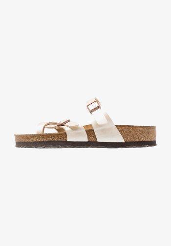 MAYARI - T-bar sandals - graceful pearl/white