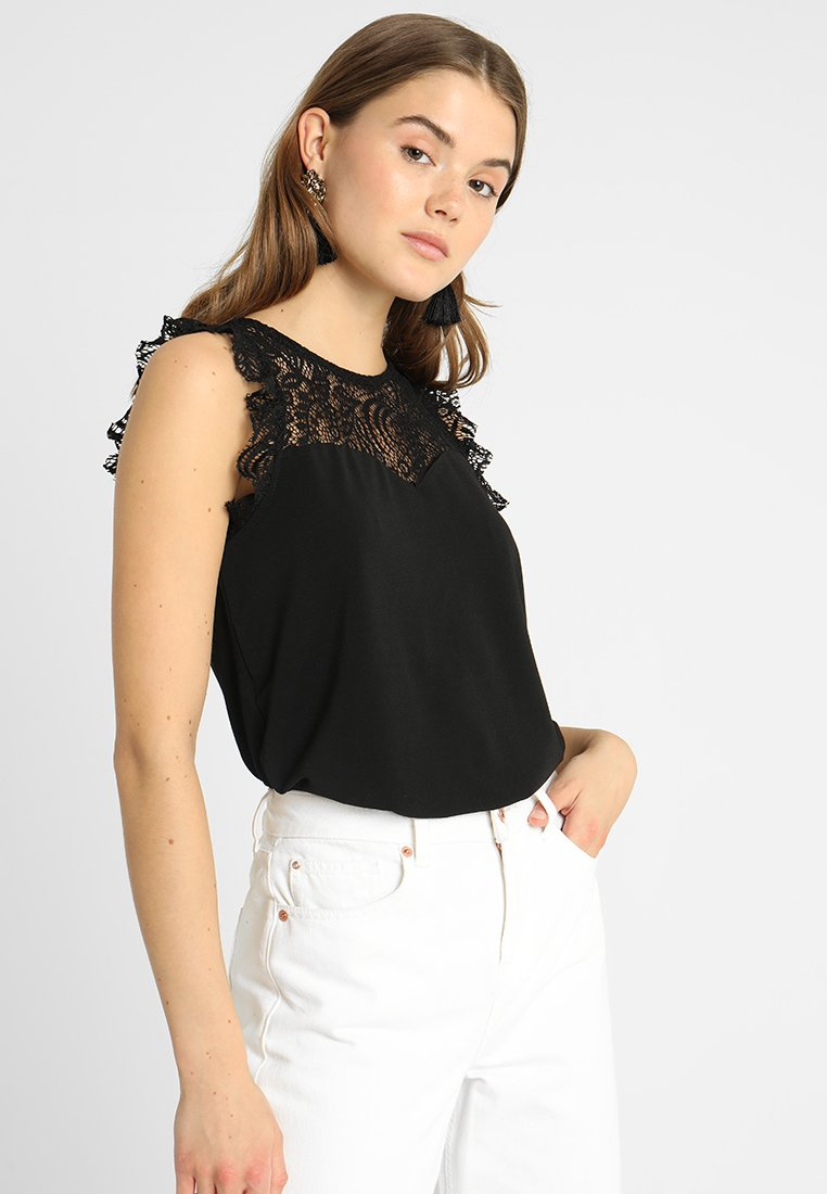 Vero Moda - VMALBERTA SWEETHEART  - Bluse - black
