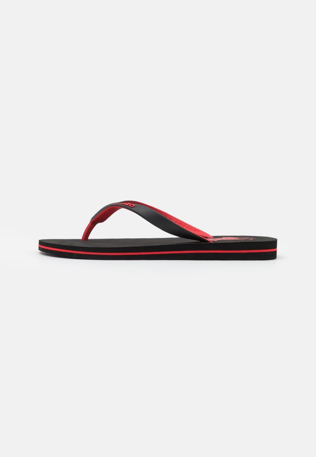 Sandály s odděleným palcem - black/red