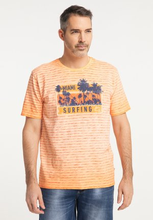 T-shirt print - orangerust