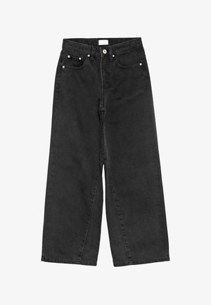 WIDE LEG - Relaxed fit jeans - calm black