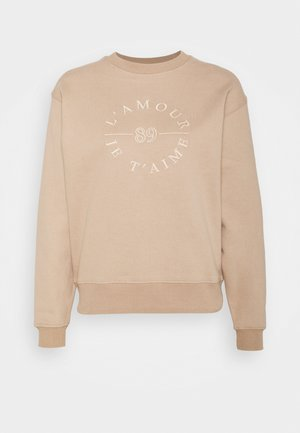 SLOAN SLOGAN L'AMOUR - Sweatshirt - coffee/white