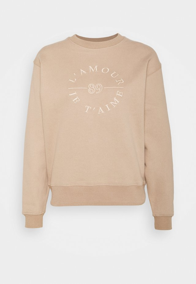 SLOAN SLOGAN L'AMOUR - Sweatshirt - coffee/white
