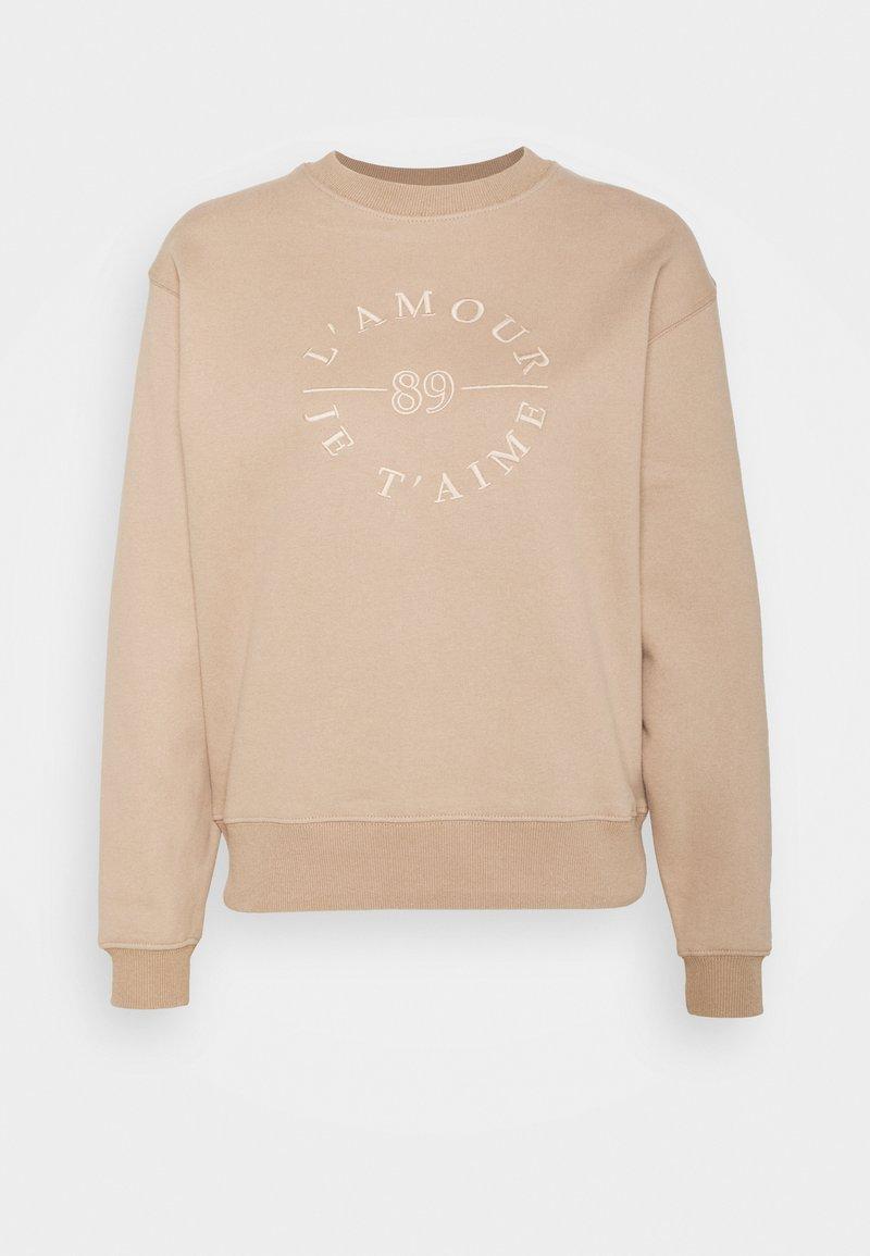 Forever New - SLOAN SLOGAN L'AMOUR - Sweatshirt - coffee/white