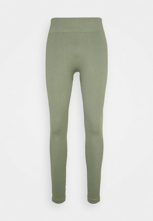 SEAMLESS HIGH WAIST LEGGING - Leggings - light green