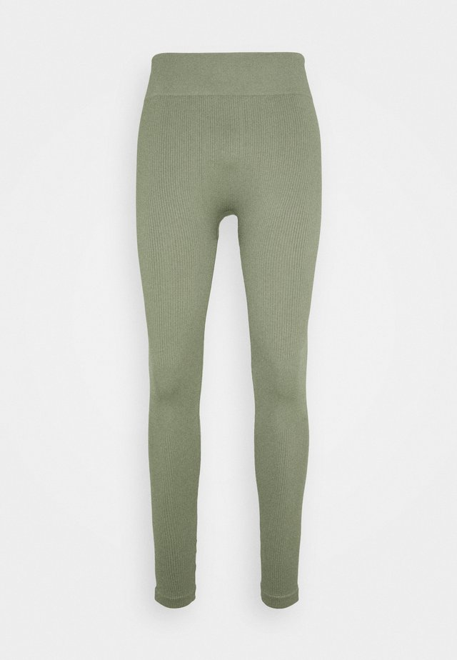SEAMLESS HIGH WAIST LEGGING - Punčochy - light green