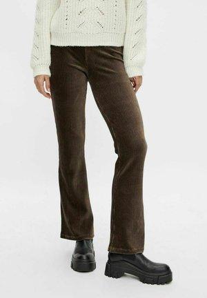 SCHLAG SAMT - Trousers - dark brown