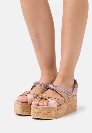MAGIC - Platform sandals - lilac/multicolor
