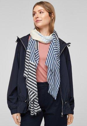 Scarf - dark blue stripes