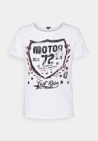Key Largo - MOTOR CITY ROUND - Triko spotiskem - white - 4