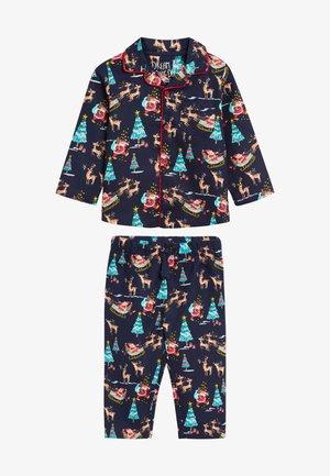CHRISTMAS BUTTON THROUGH - Pyjama set - dark blue
