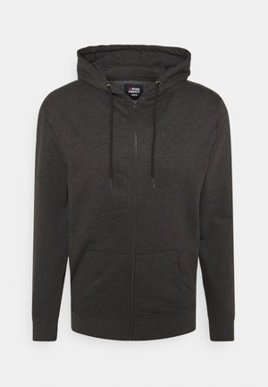 BASIC ZIP CARDIGAN - Mikina na zip - dark grey melange