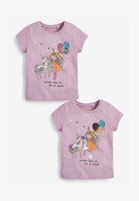 Next - 2-PACK - Print T-shirt - lilac - 0