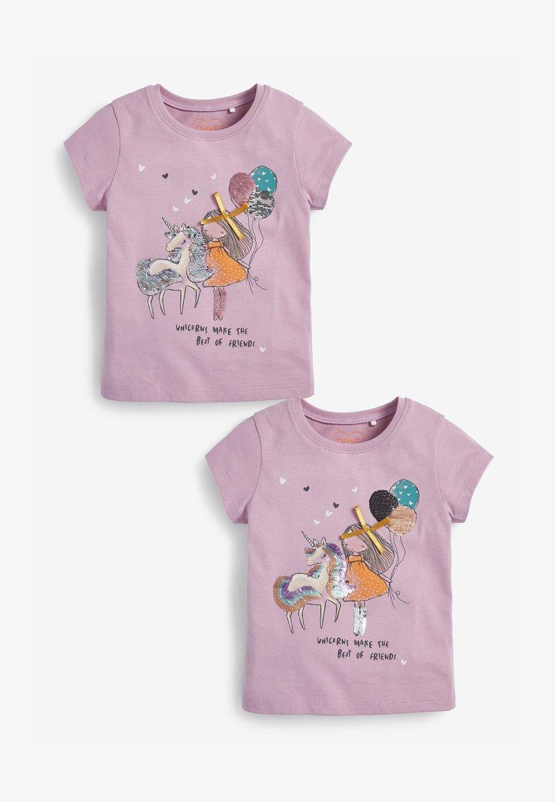 Next - 2-PACK - Print T-shirt - lilac