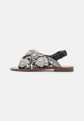 GLICINE  - Sandals - offwhite/nero