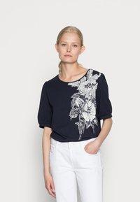 edc by Esprit - COO  - T-shirt print - navy - 0