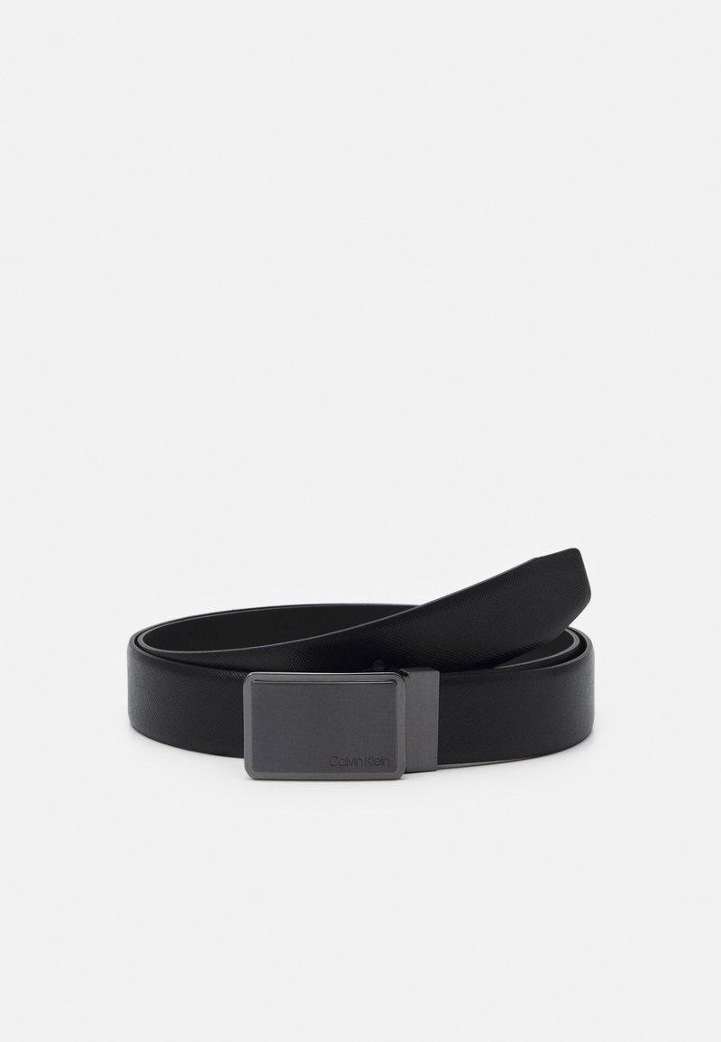 Calvin Klein - SQUARE BUCKLE  - Belt - black