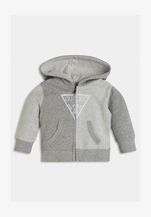 veste en sweat zippée - hellgrau