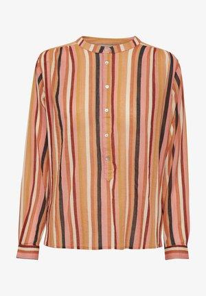 Button-down blouse - multistripe