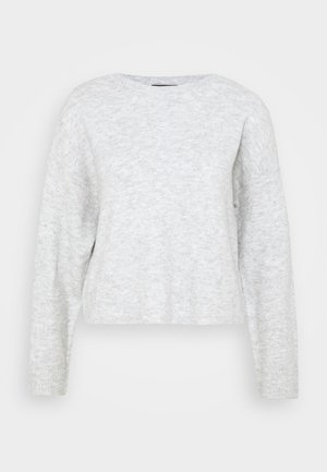 VMPLAZA BOXY - Jumper - light grey melange