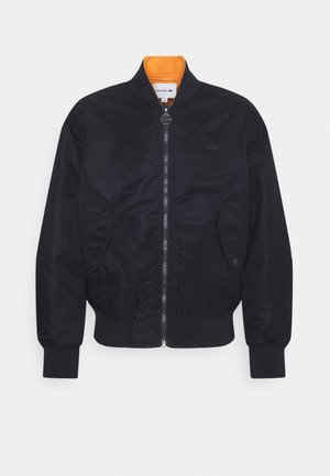Bomber bunda - dark blue/orange