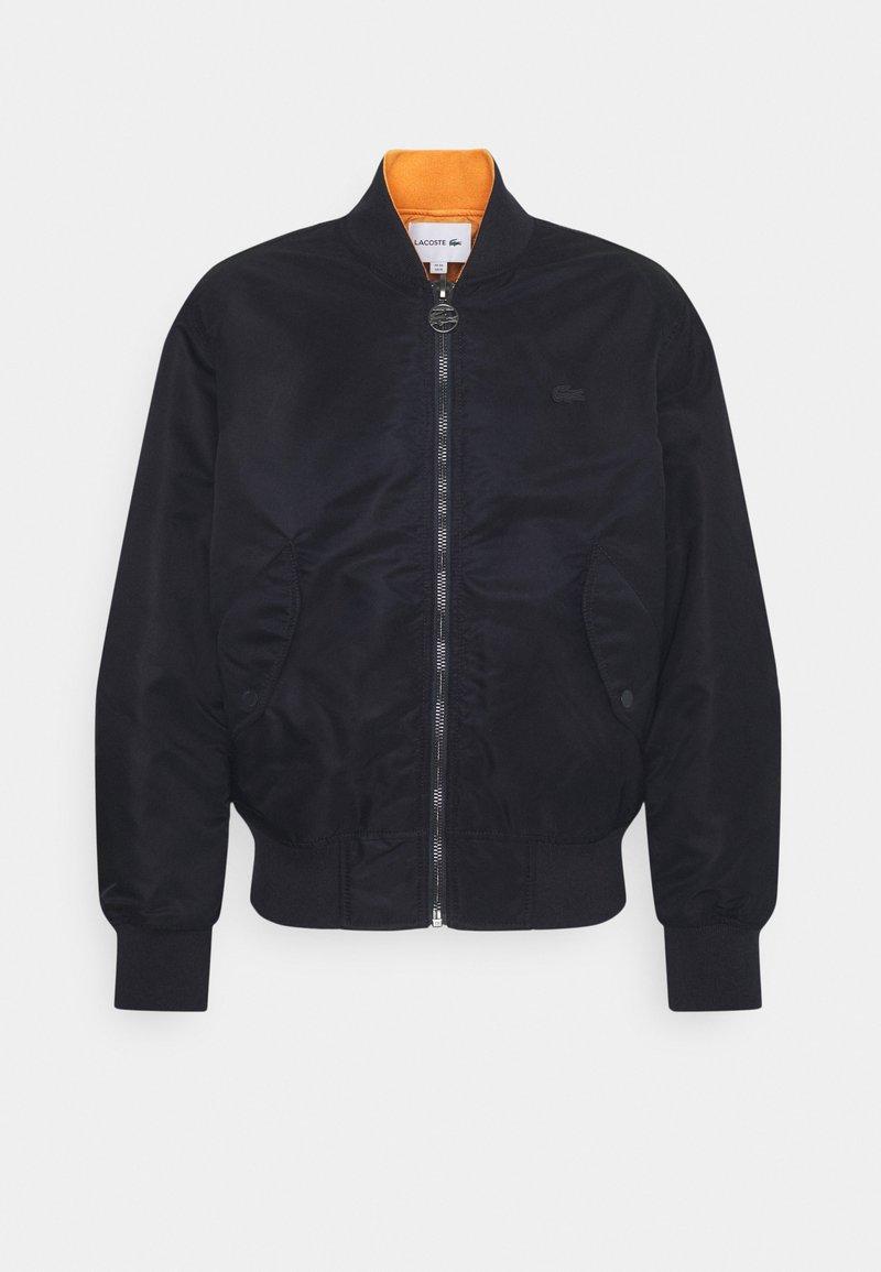 Lacoste - Bomber Jacket - dark blue/orange