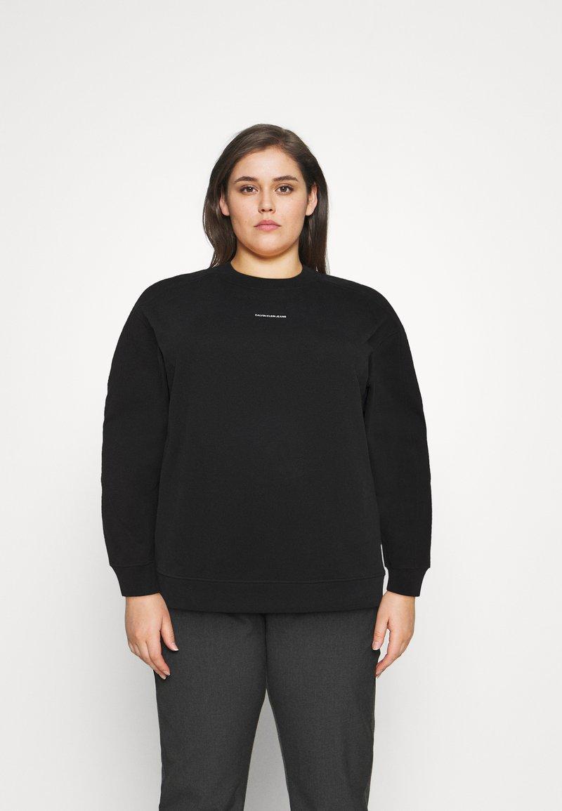 Calvin Klein Jeans Plus - MICRO BRANDING - Mikina - black