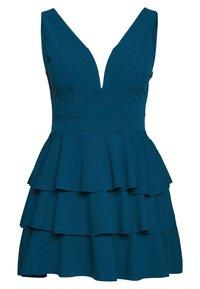 WAL G PETITE - V NECK DOUBLE DRILL DRESS - Koktejlové šaty/ šaty na párty - teal blue - 5