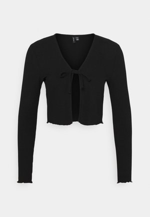 VMRILEY CROP CARDIGAN - Chaqueta de punto - black