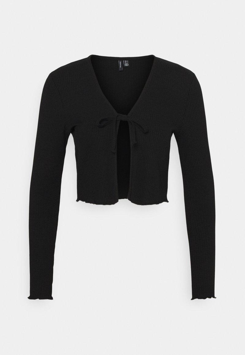 Vero Moda Petite - VMRILEY CROP CARDIGAN - Gilet - black