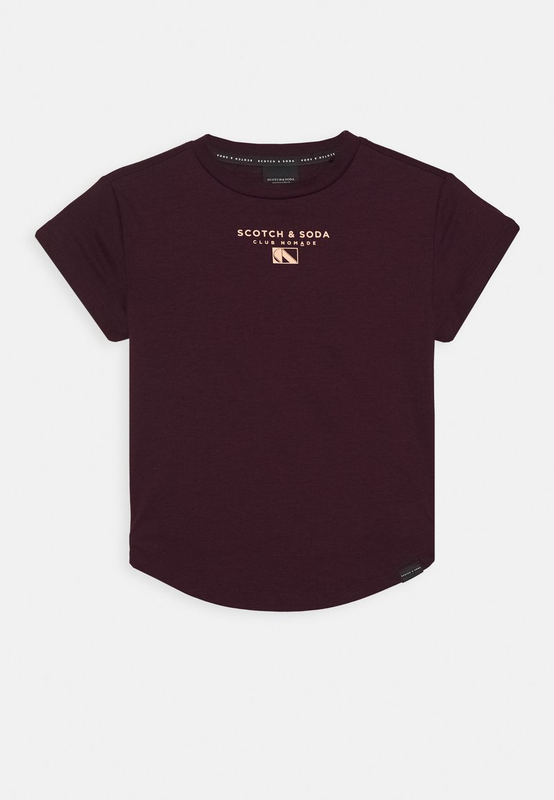Scotch & Soda - CLUB NOMADE BASIC TEE WITH SMALL CHEST ARTWORK - Print T-shirt - burned plum