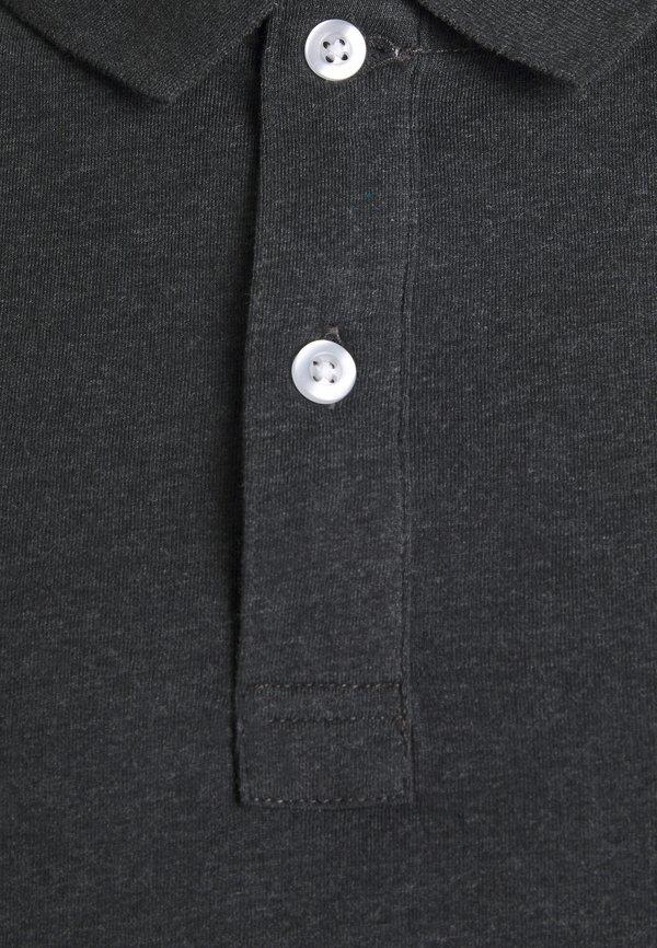 Pier One BASIC - Koszulka polo - mottled dark grey/ciemnoszary melanż Odzież Męska SOIE