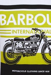 Barbour International - BURN TEE - Print T-shirt - white - 5