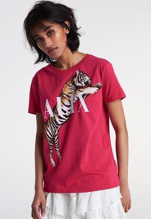 TIGER - T-shirt print - fuchsia