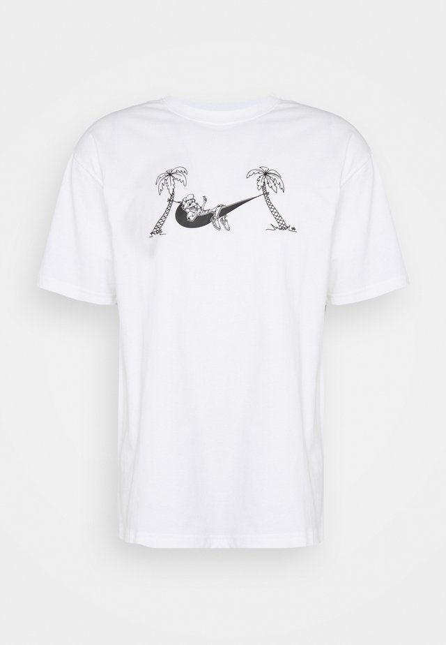 TEE HAMMOCK - Print T-shirt - white/black