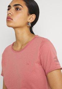 G-Star - MYSID OPTION SLIM - Print T-shirt - dusty rose - 3