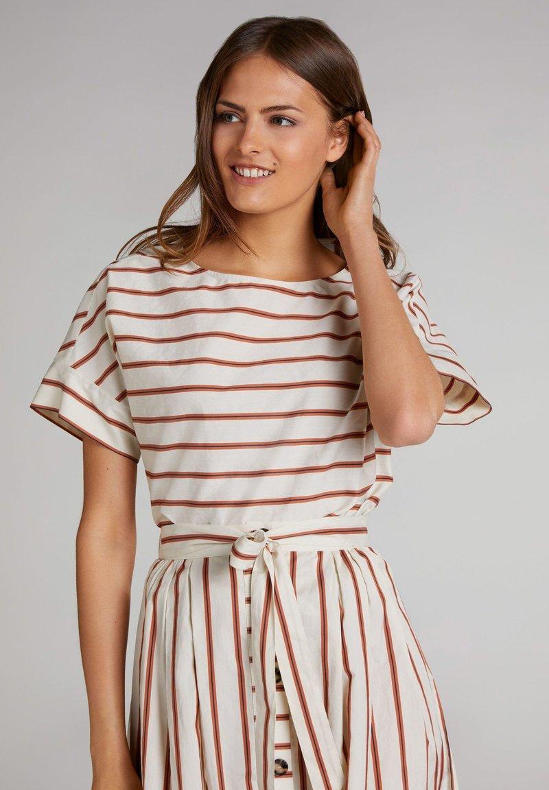Oui - Print T-shirt - light stone red / pink